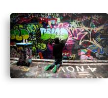 Color Coordinated-Graffiti  Melbourne Metal Print