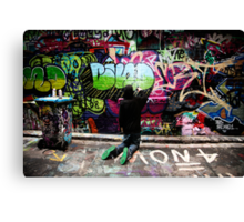Color Coordinated-Graffiti  Melbourne Canvas Print