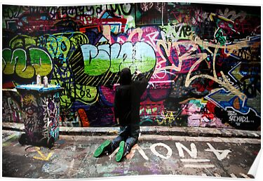 Color Coordinated-Graffiti  Melbourne by Rosina  Lamberti