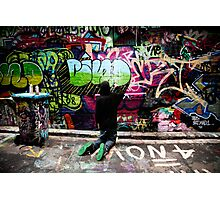 Color Coordinated-Graffiti  Melbourne Photographic Print
