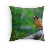 Food for the Nestlings Throw Pillow