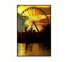 Ferris wheel - If you dare Art Print