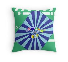 Vanishing Punt Throw Pillow