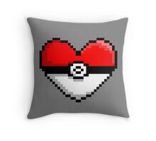 PokeHeart Throw Pillow