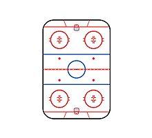 Ice Rink Diagram Hockey Game Companion by Garaga
