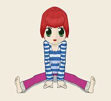 Chibi girl sitting on the floor by CamposDO