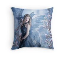 Snow Fairy fantasy digital art fantasy portrait Throw Pillow