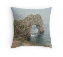 Durdle Door in Dorset Throw Pillow