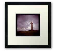 big lighthouse on the hill Framed Print