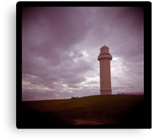 big lighthouse on the hill Canvas Print