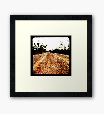Track Winding Back Framed Print