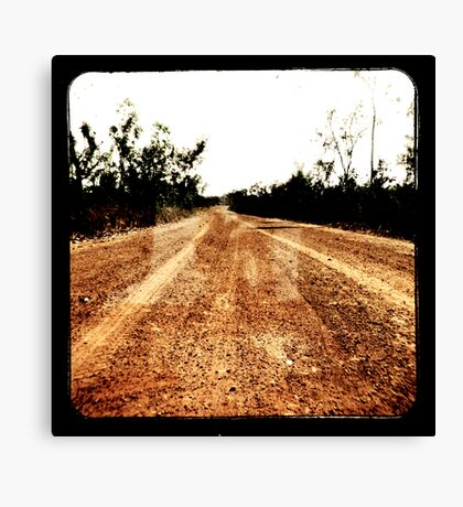 Track Winding Back Canvas Print