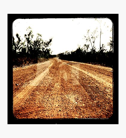 Track Winding Back Photographic Print