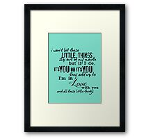 Little Things - One Direction Framed Print