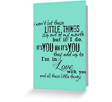 Little Things - One Direction Greeting Card