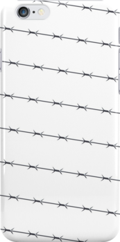 Barbed wire on light background 02 by CamposDO
