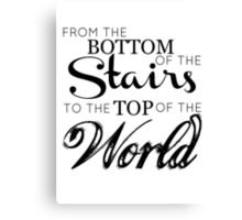 The boys from the stairs Canvas Print