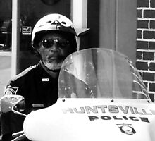 Morgan Freeman on the set of Evan Almighty (B&W) by Tara Johnson