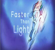 "Rainbow dash ""faster than light"" by Erravi"