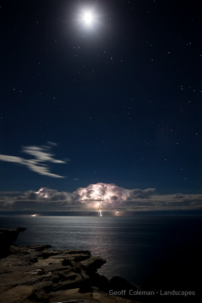 Moonlightning  by Geoff  Coleman - Landscapes