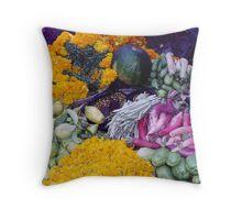 Nepali market produce Throw Pillow