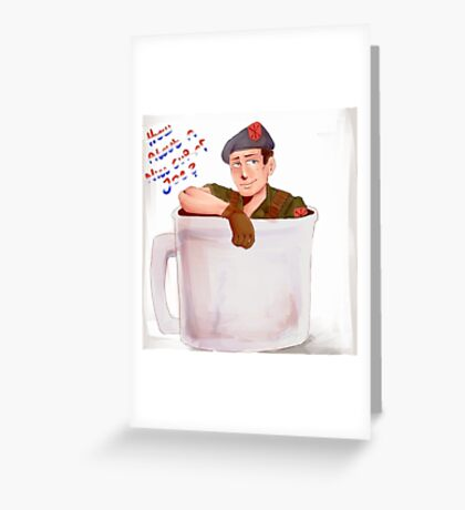 Cup of G.I. Joe Greeting Card