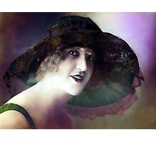 vintage lady Photographic Print