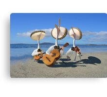 Pelican Mariachi band Canvas Print