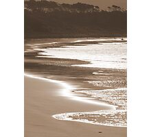 Sepia Beach Photographic Print