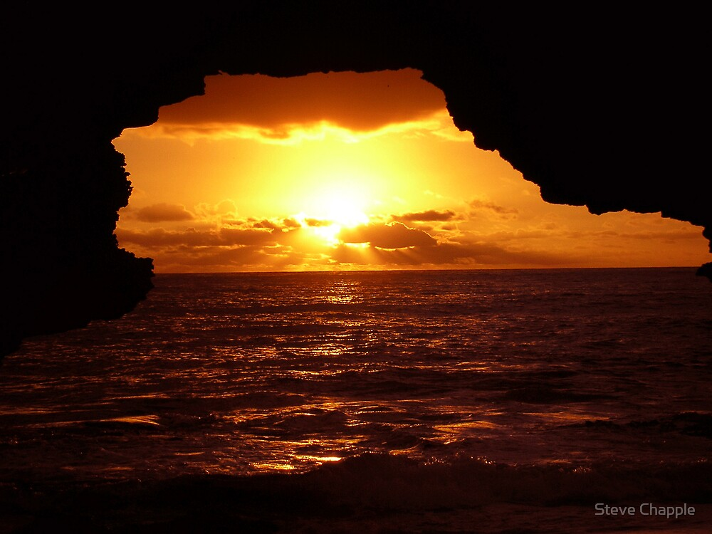 Cave Sunset. by Steve Chapple