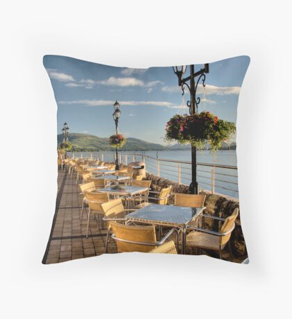 Duck Bay Marina Throw Pillow