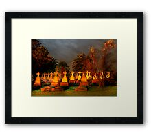 HAPPY HALLOWEEN  -Dont Be Late We Will Leave The Lights On For You !  Framed Print