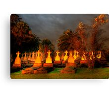 HAPPY HALLOWEEN  -Dont Be Late We Will Leave The Lights On For You !  Canvas Print