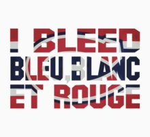 I Bleed Bleu, Blanc et Rouge Kids Clothes