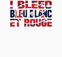 I Bleed Bleu, Blanc et Rouge Unisex T-Shirt