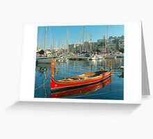 The Maltese Dghajsa Greeting Card