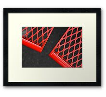 The Red Bench Framed Print
