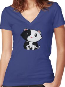 Chibi Frazzle Women's Fitted V-Neck T-Shirt