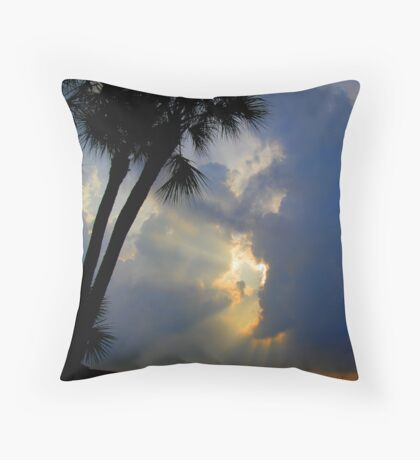 tropical rays Throw Pillow