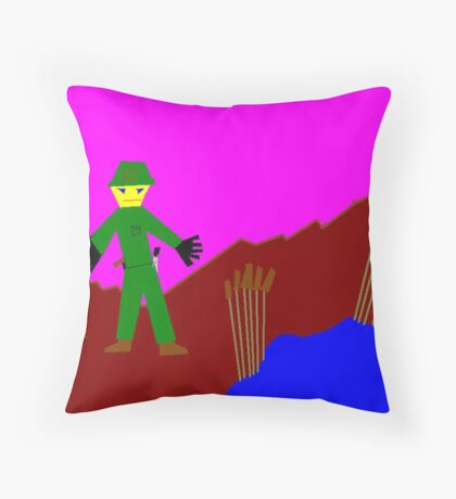 Lost in a garden, by 9year old Zooty Throw Pillow