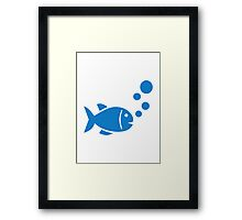 Blue Fish Framed Print