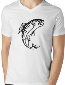 Trout Mens V-Neck T-Shirt