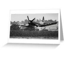 F4U-7 Corsair NX1337A lowdown and shifting Greeting Card