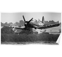 F4U-7 Corsair NX1337A lowdown and shifting Poster