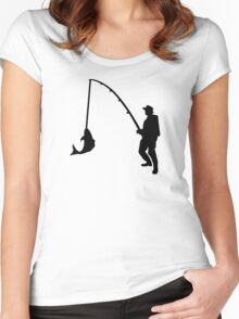 Fisherman rod Women's Fitted Scoop T-Shirt