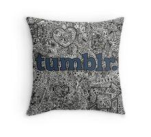 Tumblr Doodle Throw Pillow