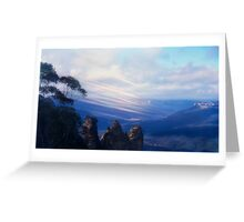 Foehn through the Blue Mountains, New South Wales, Australia Greeting Card