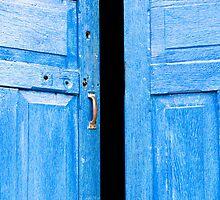 Blue door by Juha Sompinmäki