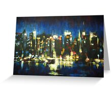 New York Skyline 2008 Greeting Card