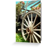 Wheels and Blooms Greeting Card